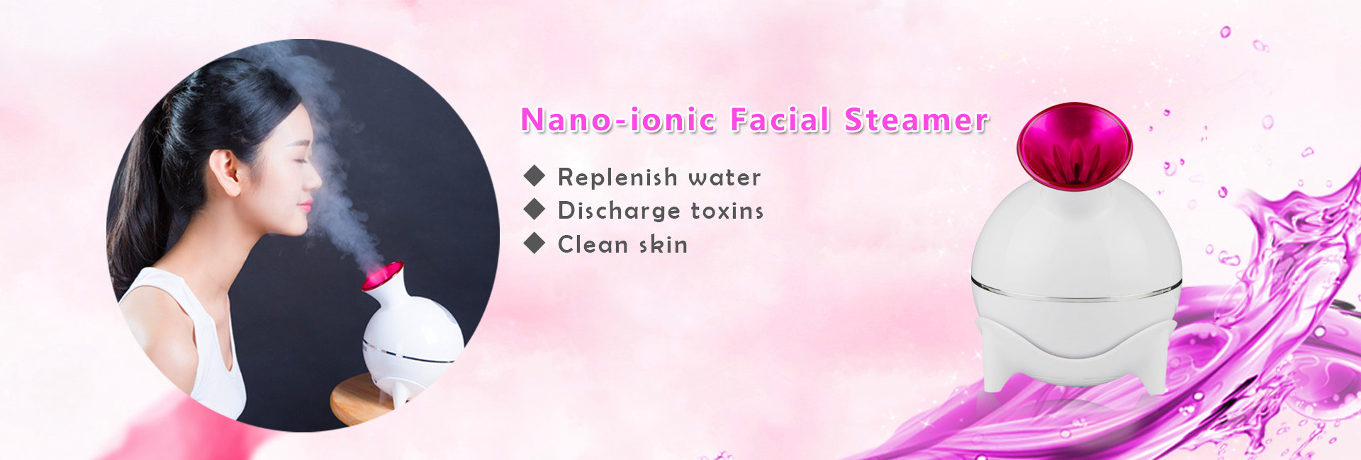 Thermal spray face steamer  Nano mist|anion beauty KKS127