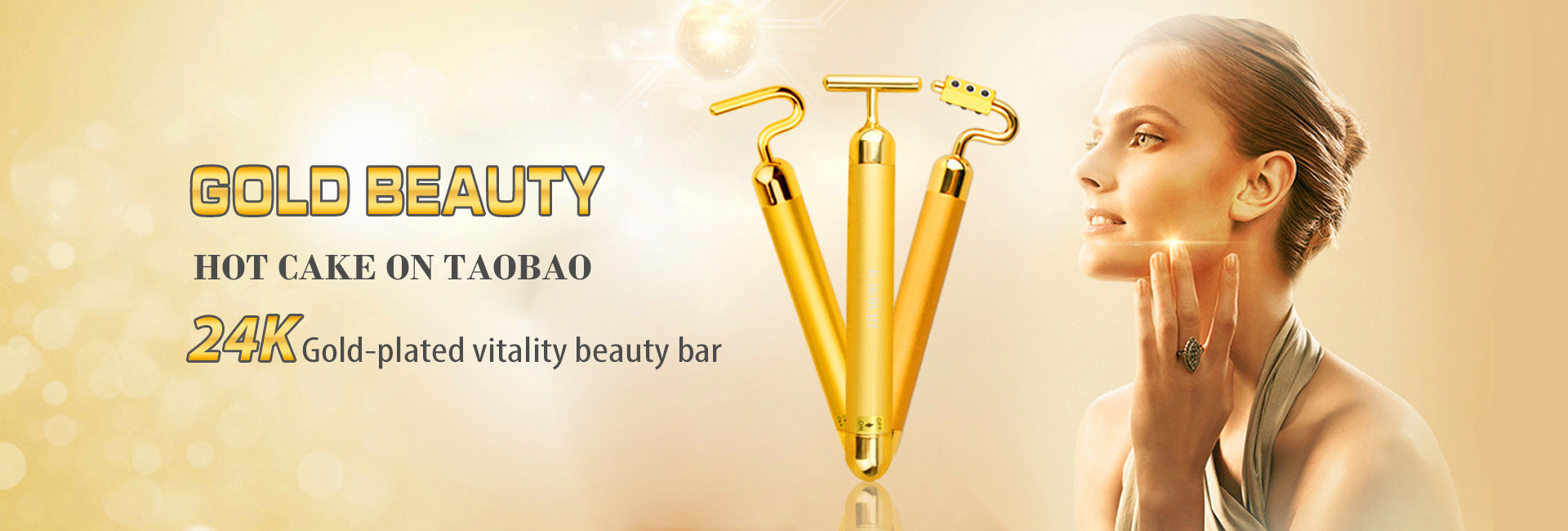 KAKUSAN Electric gold beauty bar with Germanium Updated version KB-177
